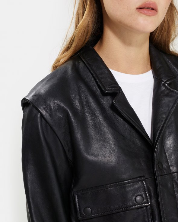 Moss Copenhagen - Noah Leather Biker
