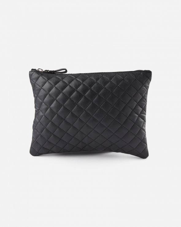 Moss Copenhagen - Quilted Leather Clutch L