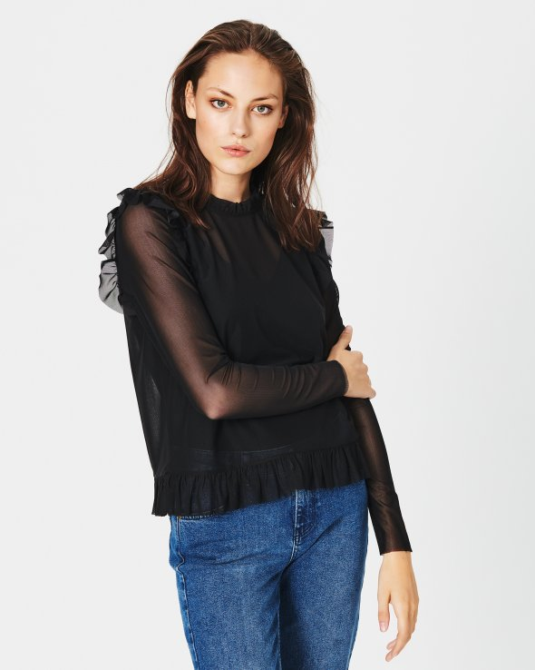 Moss Copenhagen - Foley Mesh LS Top