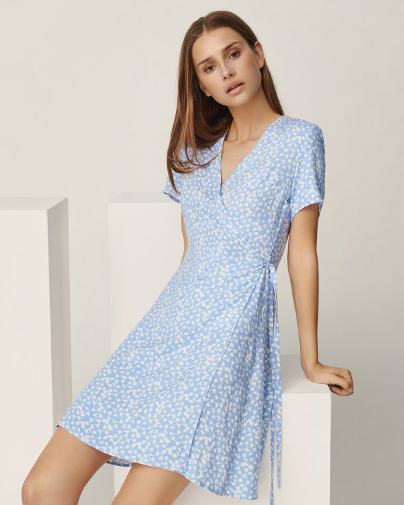 Moss Copenhagen - Elliane Leia SS Wrap Dress AOP