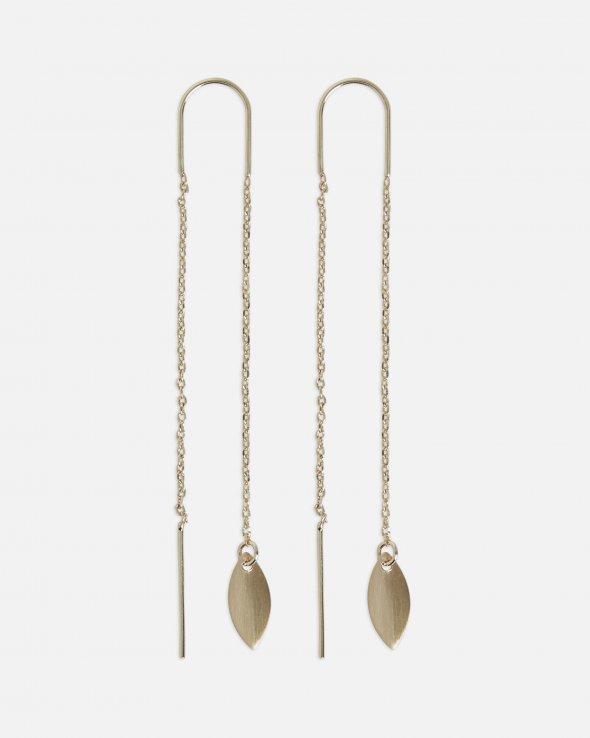 Moss Copenhagen - Leaf Chain Earrings