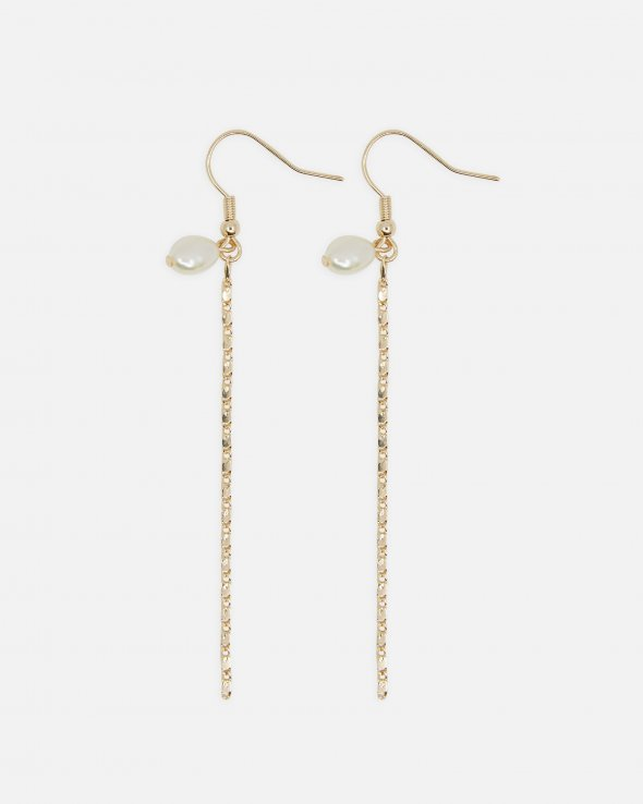Moss Copenhagen - Mazie Pearl Chain Earrings