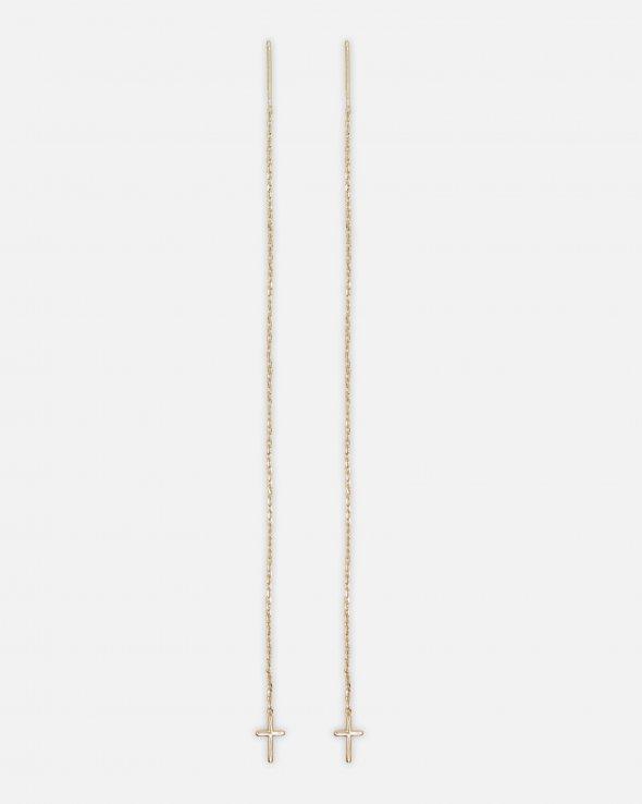 Moss Copenhagen - Cross Chain Earrings
