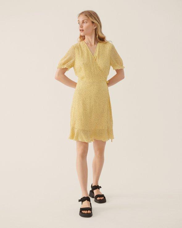 Moss Copenhagen - Linoa Rikkelie Fril Wrap Dress AOP