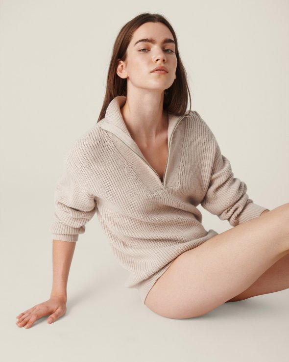 Moss Copenhagen - Elyce Jilli Zip Pullover